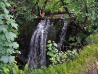 A view of the top of the waterfall