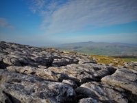The view of Ingleborough from a small area of limestone pavement on Warrendale Knotts
