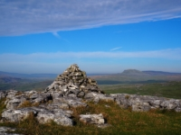 Looking towards Pen-y-ghent from the cairn