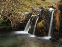 One of the small falls below Cautley Spout