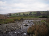 The confluence of Cautley Holme Beck and the River Rawthey