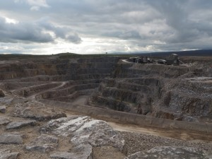 The view of the quarry from Coldstones Cut