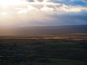 Late evening light on the moors north-west of Greenhow