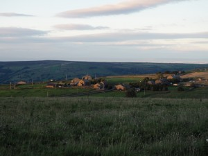 Looking down on the eastern end of Greenhow village
