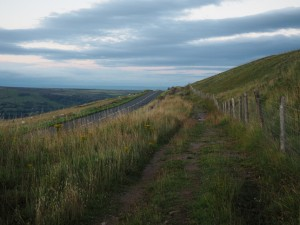 The permissive path between the road and quarry