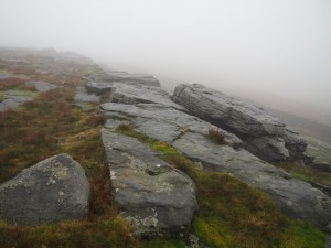 Passing from limestone to gritstone scenery