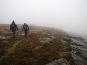 Walking along the edge of Conistone Moor
