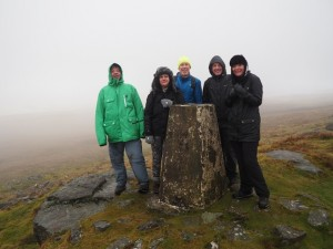 By the Conistone Moor trig point
