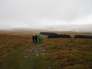 Descending the Conistone Turf Road