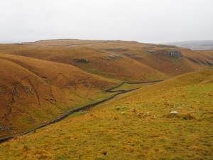 Looking down into Conistone Dib