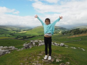 Rhiannon on Conistone Pie