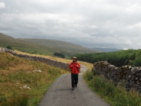 Heading up the road with Yockenthwaite Moor behind me