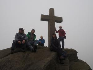 Group shot by the Rylstone Cross