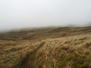 Looking down to the small hill called Sharpber