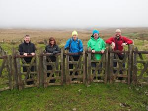 At the unusual sheep pens at the top of Fell LAne