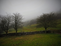 Low cloud over the flanks of Buckden Pike