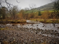 The confluence of Cray Gill and the River Wharfe