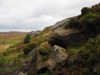 Gritstone outcrops at Fairies Chest
