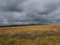 Dark clouds over Cracoe Fell