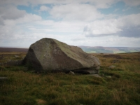 The large boulder on the top of Brown Bank