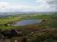Looking down on Embsay Reservoir
