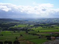 Looking down over Skipton and Airedale