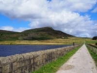 Embsay Crag from the reservoir dam