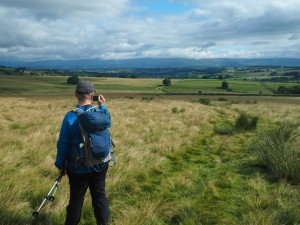Paul enjoying the view back to the North Pennines