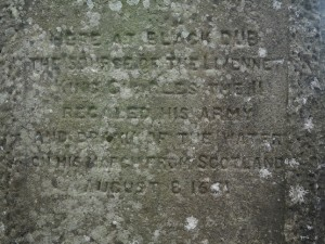 The inscription on one side of the monument