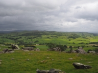 The view towards Smearsett Scar and Oxenber Wood from the boulder field