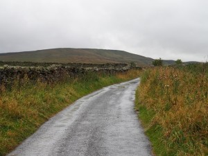 The lane to Swineside with Dead Man's Hill in the distance