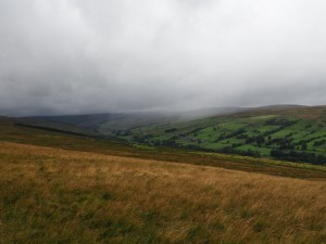 The rain arrives in Coverdale