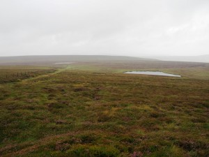 Looking back down at Woogill Tarn and Coverdale Tarn