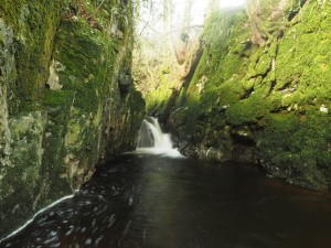 A third waterfall as the beck passes through a narrow ravine