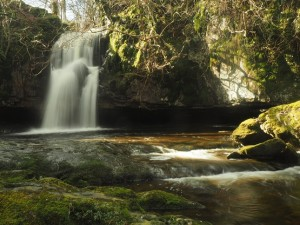 The main waterfall on Gastack Beck