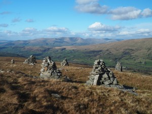 The view from Megger Stones towards the Howgill Fells