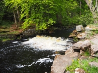 A small weir on the River Washburn