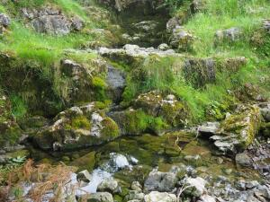 Dry waterfalls on Sleets Gill
