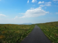 The Cam High Road with Ingleborough in the distance