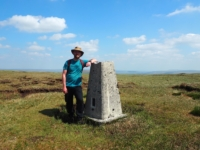 The trig point on the top of Dodd Fell