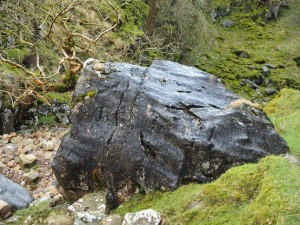 A larger boulder in Ease Gill