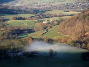 Looking up the valley towards Marrick Priory