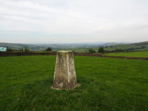 The Delph Farm trig point