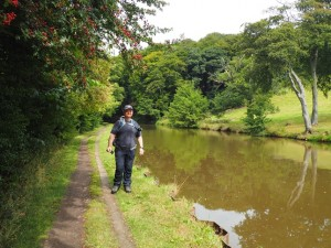 Paul alongside the canal
