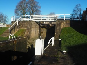 At the foot of the Three Rise Locks