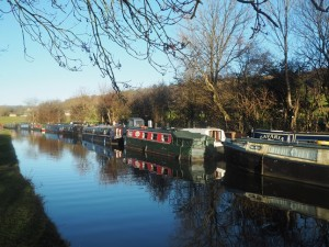 Barges on the Leeds-Liverpool Canal