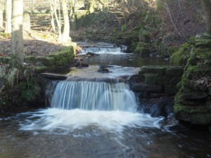 A small waterfall on Morton Beck