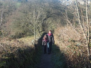 Heading up the path into Micklethwaite from Morton Beck