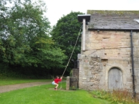 Rhiannon ringing the mill bell