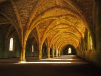The cellarium, my favourite spot in Fountains Abbey